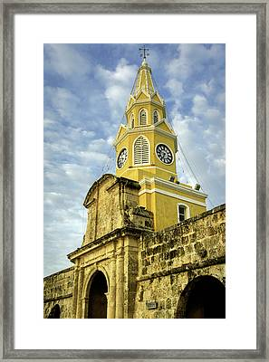 The Venerable Clock Tower, Torre Del Framed Print by Jerry Ginsberg
