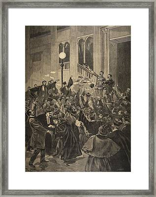 The Verdict Of The Zola Affair Framed Print by F.L. & Tofani, Oswaldo Meaulle