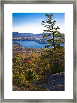 The View From Bald Mountain - Old Forge New York Framed Print by David Patterson