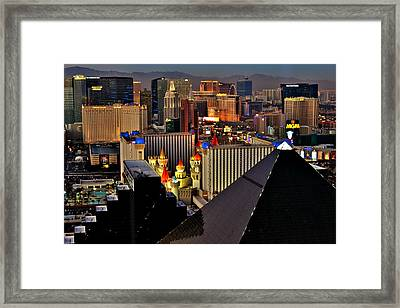 The View From The Top Framed Print by Benjamin Yeager