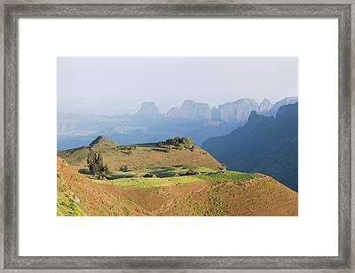 The Village Amiwalka Near Semien Framed Print by Martin Zwick