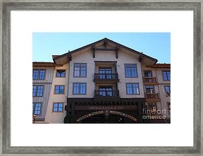 The Village At Squaw Valley Usa 5d27662 Framed Print by Wingsdomain Art and Photography