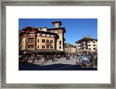 The Village At Squaw Valley Usa 5d27682 Framed Print by Wingsdomain Art and Photography