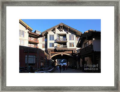 The Village At Squaw Valley Usa 5d27698 Framed Print by Wingsdomain Art and Photography