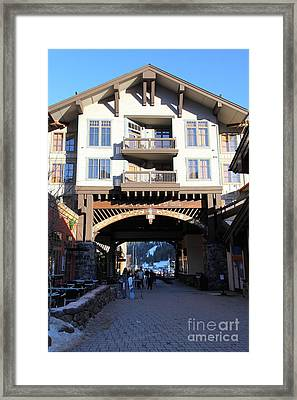 The Village At Squaw Valley Usa 5d27700 Framed Print by Wingsdomain Art and Photography