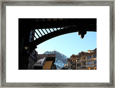 The Village At Squaw Valley Usa 5d27701 Framed Print by Wingsdomain Art and Photography