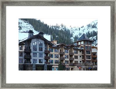 The Village At Squaw Valley Usa 5d27713 Framed Print by Wingsdomain Art and Photography