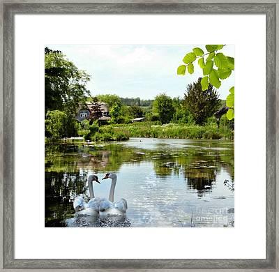 The Village Pond Framed Print by Morag Bates