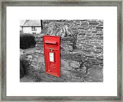 The Village Post Framed Print by Connie Handscomb