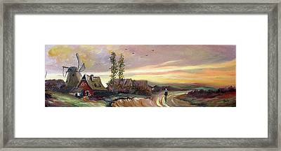 The Village Framed Print by Sorin Apostolescu