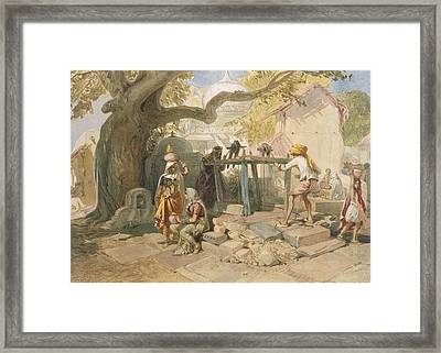 The Village Welll, From India Ancient Framed Print by William 'Crimea' Simpson