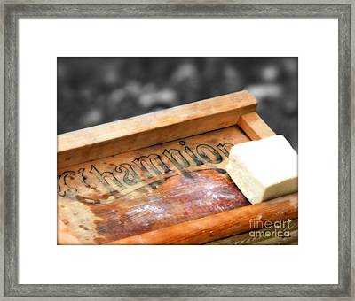 The Vintage Of Champion  Framed Print by Steven  Digman
