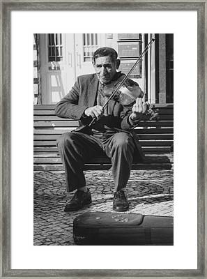 The Violin Player Framed Print by Marco Oliveira