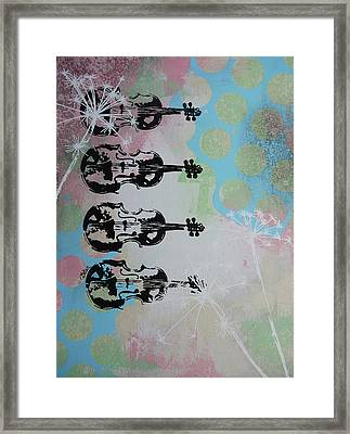 The Violins Framed Print by Bitten Kari