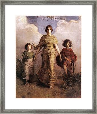 The Virgin Framed Print by Abbott Handerson Thayer