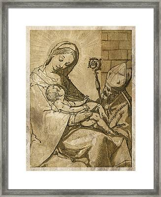 The Virgin And Child Framed Print by Aged Pixel