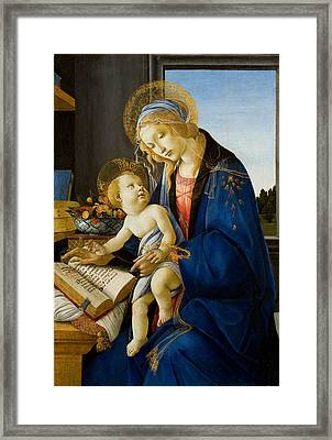 The Virgin And Child Framed Print by Celestial Images