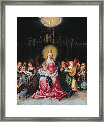 The Virgin And Child Surrounded Framed Print by Cornelis de I Baellieur