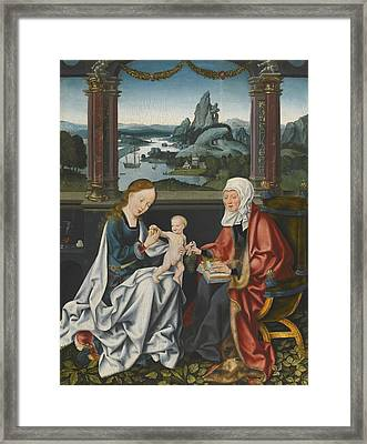 The Virgin And Child With Saint Anne Framed Print by Celestial Images