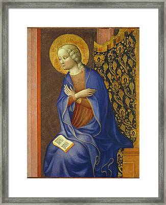 The Virgin Annunciate Framed Print by Tommaso Masolino da Panicale