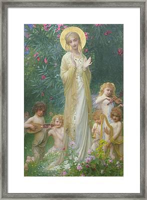 The Virgin In Paradise Framed Print by Antoine Auguste Ernest Herbert
