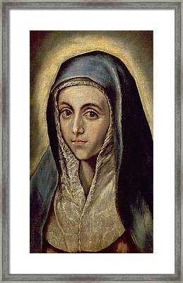 The Virgin Mary Framed Print by El Greco Domenico Theotocopuli