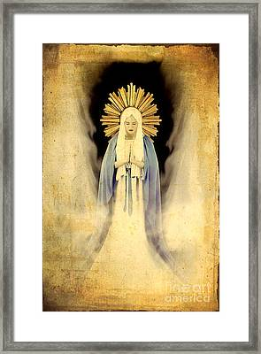 The Virgin Mary Gratia Plena Framed Print by Cinema Photography