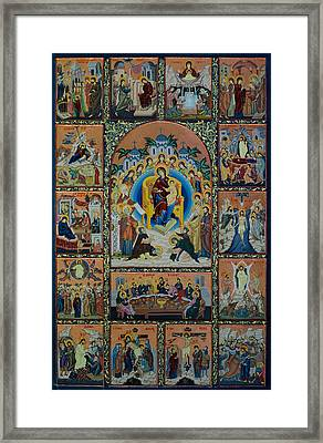 The Virgin Mary With Angels Framed Print by Claud Religious Art