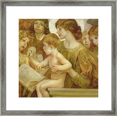 The Virgin Of The Angels Framed Print by Giulio Aristide Sartorio