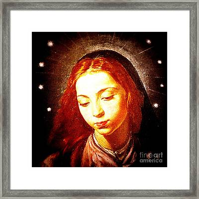 The Virgin Of The Immaculate Conception Framed Print by Patricia Januszkiewicz