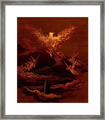The Vision Of The Sixth Heaven Framed Print by Gustave Dore