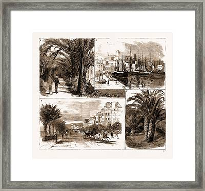 The Visit Of The Prince Of Wales To Cannes And Nice Framed Print by Litz Collection