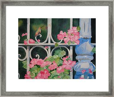 The Visitor Framed Print by Karen King