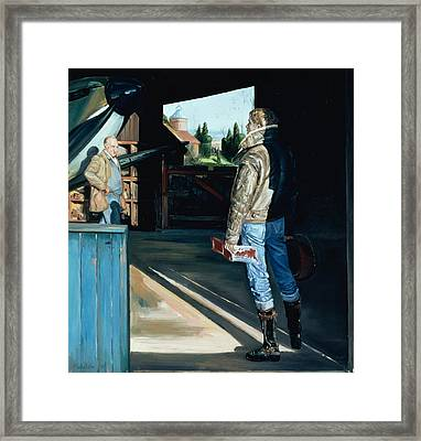 The Visitor Framed Print by Timothy Easton