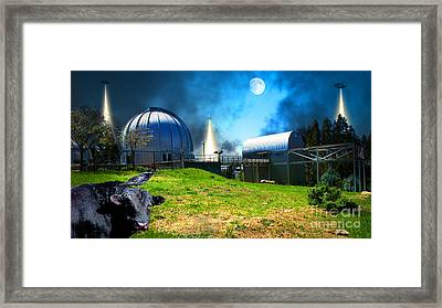 The Visitors At The Chabot Space And Science Center In The Hills Of Oakland California Dsc912 V2 Framed Print by Wingsdomain Art and Photography