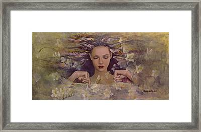 The Voice Of The Thoughts Framed Print by Dorina  Costras