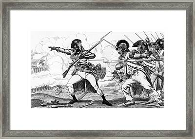 The Volunteers In Sabots At The Battle Of Valmy Framed Print by Louis Blanc