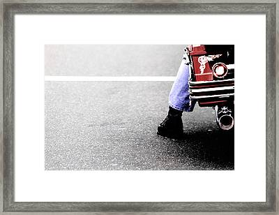 The Wait  Framed Print by Karol Livote