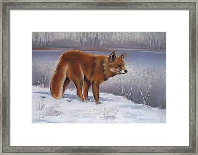 The Waiting Game Framed Print by Cynthia House