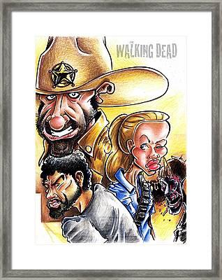 The Walking Dead Framed Print by Big Mike Roate