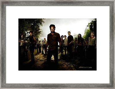 The Walking Dead Framed Print by Gabriel T Toro