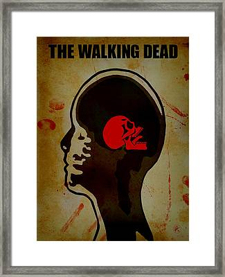 The Walking Dead - Mri Framed Print by Lance Vaughn