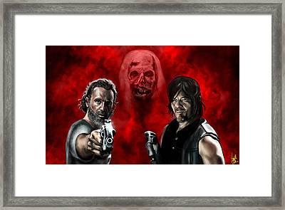The Walking Dead Framed Print by Vinny John Usuriello