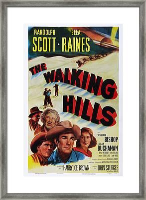 The Walking Hills, Us Poster, From Left Framed Print by Everett