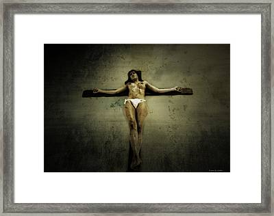 The Wall II Framed Print by Ramon Martinez