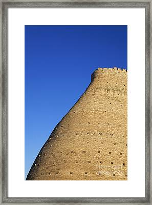 The Walls Of The Ark In Bukara Uzbekistan Framed Print by Robert Preston