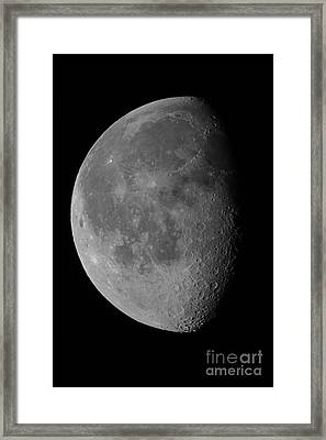 The Waning Gibbous Moon And Lunar Framed Print by John Chumack