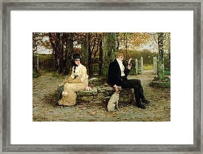 The Waning Honeymoon Framed Print by GH Boughton