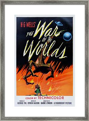 The War Of The Worlds Framed Print by Georgia Fowler
