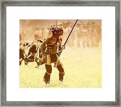 The Warrior Framed Print by Jim Cook